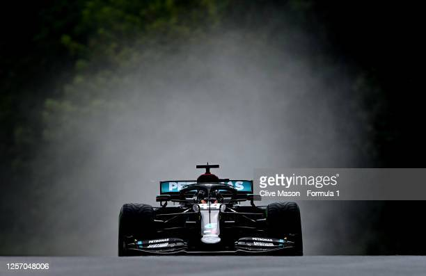 Lewis Hamilton of Great Britain driving the Mercedes AMG Petronas F1 Team Mercedes W11 on the way to the grid before the Formula One Grand Prix of...