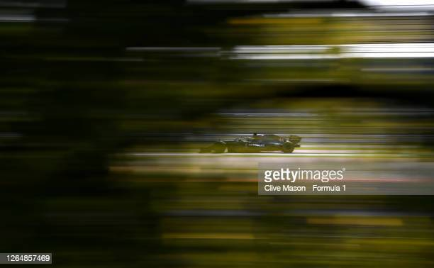 Lewis Hamilton of Great Britain driving the Mercedes AMG Petronas F1 Team Mercedes W11 during the F1 70th Anniversary Grand Prix at Silverstone on...