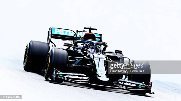 Lewis Hamilton of Great Britain driving the Mercedes AMG Petronas F1 Team Mercedes W11 during the F1 Grand Prix of Spain at Circuit de...
