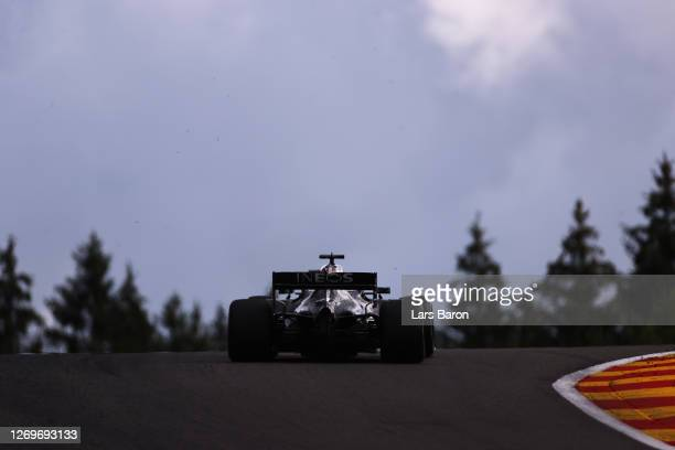 Lewis Hamilton of Great Britain driving the Mercedes AMG Petronas F1 Team Mercedes W11 on track during the F1 Grand Prix of Belgium at Circuit de...