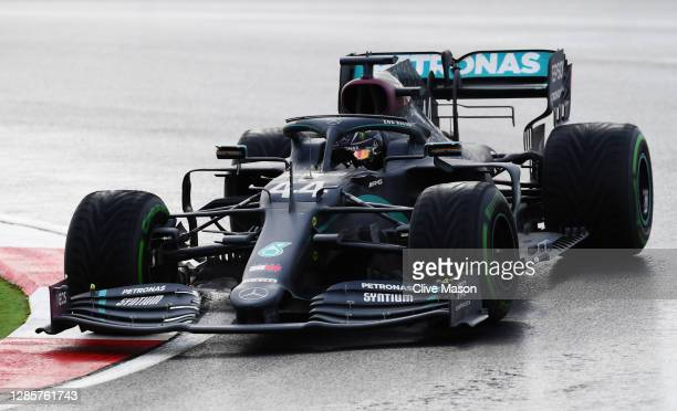 Lewis Hamilton of Great Britain driving the Mercedes AMG Petronas F1 Team Mercedes W11 on track during the F1 Grand Prix of Turkey at Intercity...
