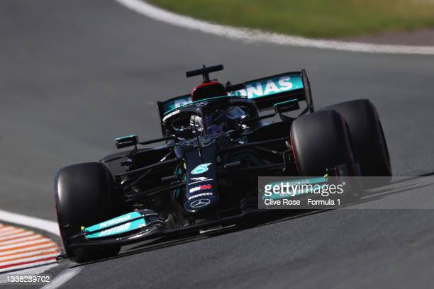 Lewis Hamilton of Great Britain driving the Mercedes AMG Petronas F1 Team Mercedes W12 during final practice ahead of the F1 Grand Prix of The...