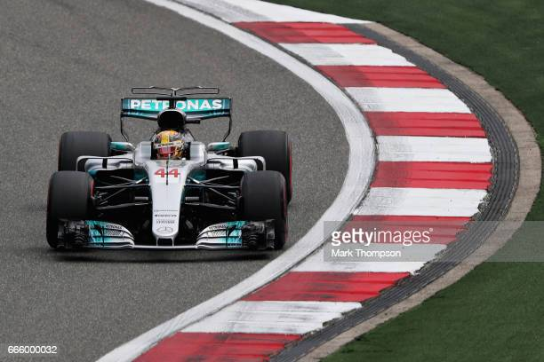 Lewis Hamilton of Great Britain driving the Mercedes AMG Petronas F1 Team Mercedes F1 WO8 on track during final practice for the Formula One Grand...