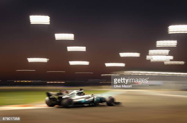 Lewis Hamilton of Great Britain driving the Mercedes AMG Petronas F1 Team Mercedes F1 WO8 on track during qualifying for the Abu Dhabi Formula One...