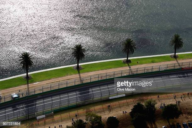 Lewis Hamilton of Great Britain driving the Mercedes AMG Petronas F1 Team Mercedes WO9 on track during qualifying for the Australian Formula One...