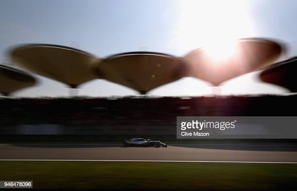 Lewis Hamilton of Great Britain driving the Mercedes AMG Petronas F1 Team Mercedes WO9 on track during the Formula One Grand Prix of China at...
