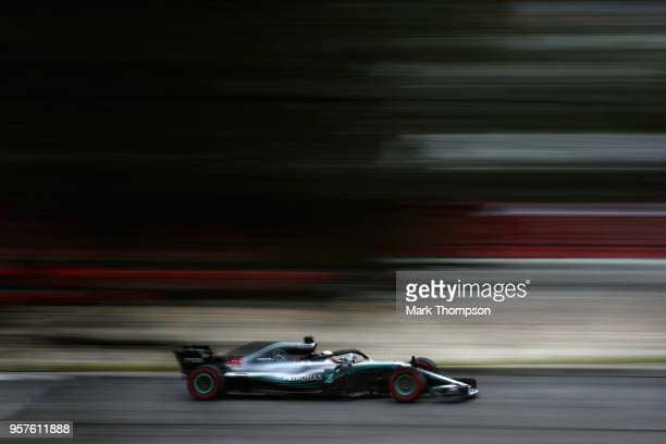 Lewis Hamilton of Great Britain driving the Mercedes AMG Petronas F1 Team Mercedes WO9 on track during final practice for the Spanish Formula One...