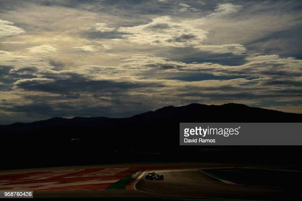 Lewis Hamilton of Great Britain driving the Mercedes AMG Petronas F1 Team Mercedes WO9 on track during day one of F1 testing at Circuit de Catalunya...