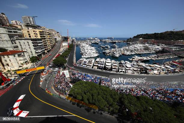 Lewis Hamilton of Great Britain driving the Mercedes AMG Petronas F1 Team Mercedes WO9 on track during qualifying for the Monaco Formula One Grand...
