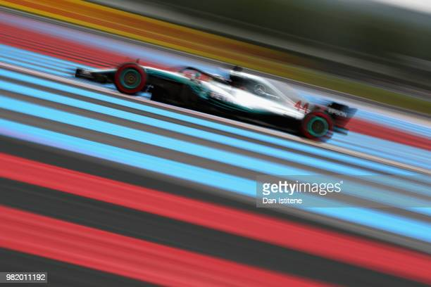 Lewis Hamilton of Great Britain driving the Mercedes AMG Petronas F1 Team Mercedes WO9 on track during qualifying for the Formula One Grand Prix of...