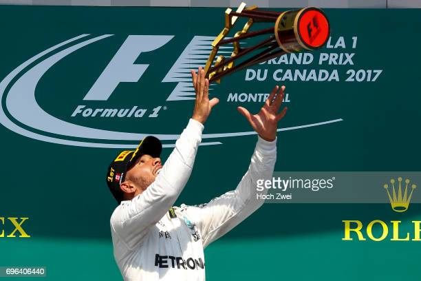 Lewis Hamilton of Great Britain during the Canadian Formula One Grand Prix at Circuit GillesVilleneuve on June 11 2017 in Montreal Canada
