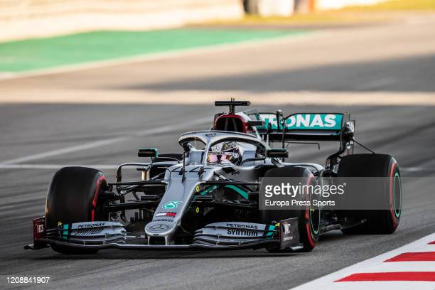 Lewis Hamilton of Mercedes AMG in action during the Winter Test 2 of Formula One World Championship celebrated at Circuit de Barcelona on January 26,...