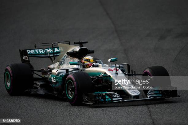 Lewis Hamilton of Mercedes AMG Petronas Team driving his car during the Formula One preseason tests on May 8 2017 in Barcelona Spain