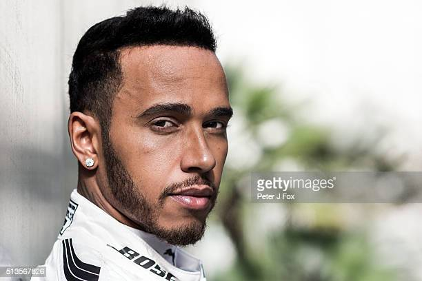 Lewis Hamilton of Mercedes and Great Britain during day three of F1 winter testing at Circuit de Catalunya on March 3 2016 in Montmelo Spain
