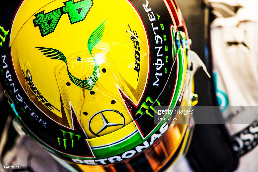 Lewis Hamilton of Mercedes and Great Britain during practice for the Formula One Grand Prix of Brazil at Autodromo Jose Carlos Pace on November 11, 2016 in Sao Paulo, Brazil.