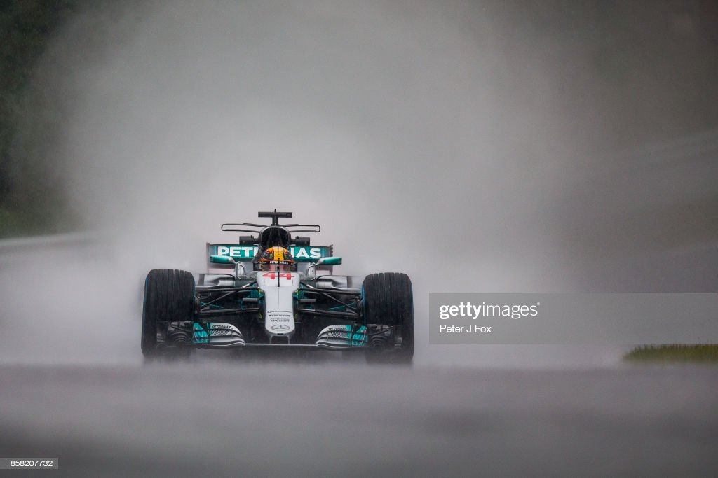 Lewis Hamilton of Mercedes and Great Britain during practice for the Formula One Grand Prix of Japan at Suzuka Circuit on October 6, 2017 in Suzuka.