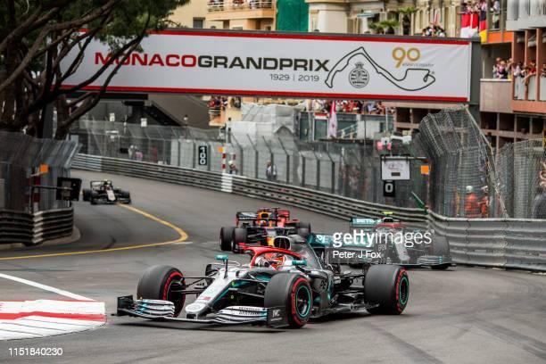 Lewis Hamilton of Mercedes and Great Britain during the F1 Grand Prix of Monaco at Circuit de Monaco on May 26, 2019 in Monte-Carlo, Monaco.
