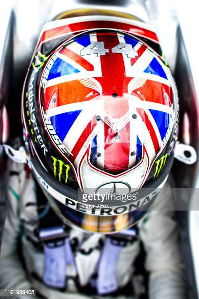 Lewis Hamilton of Mercedes and Great Britain during the F1 Grand Prix of Great Britain at Silverstone on July 14 2019 in Northampton England