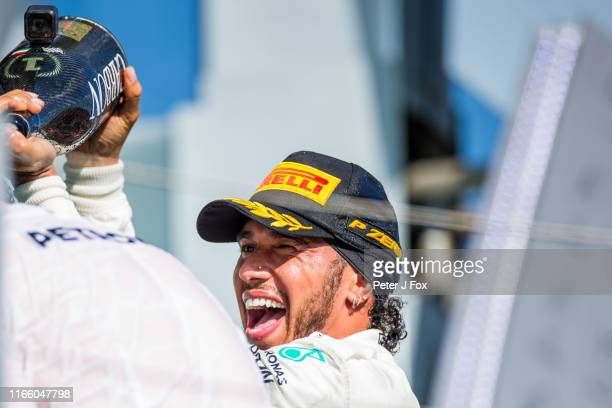 Lewis Hamilton of Mercedes and Great Britain during the F1 Grand Prix of Hungary at Hungaroring on August 04 2019 in Budapest Hungary