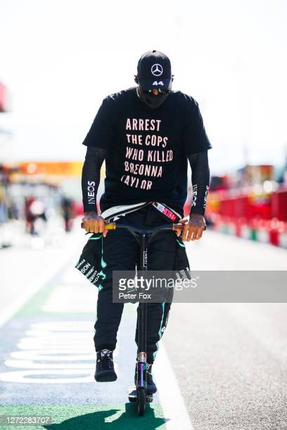 Lewis Hamilton of Mercedes and Great Britain during the F1 Grand Prix of Tuscany at Mugello Circuit on September 13 2020 in Scarperia Italy