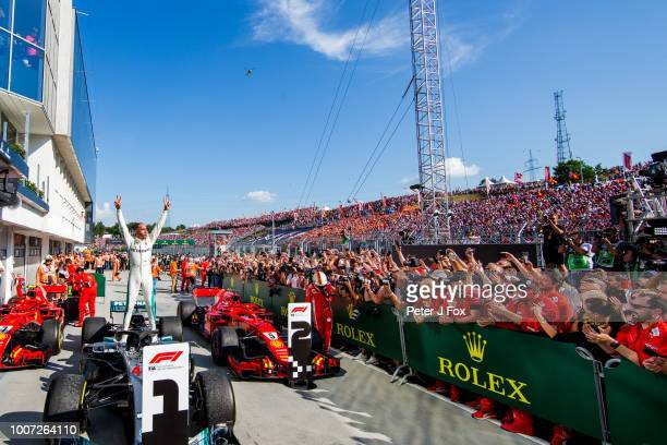 Lewis Hamilton of Mercedes and Great Britain during the Formula One Grand Prix of Hungary at Hungaroring on July 29 2018 in Budapest Hungary