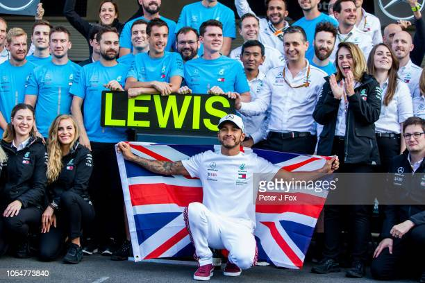Lewis Hamilton of Mercedes and Great Britain during the Formula One Grand Prix of Mexico at Autodromo Hermanos Rodriguez on October 28 2018 in Mexico...