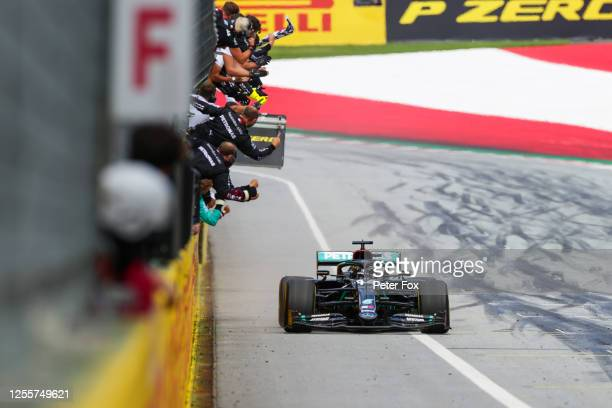 Lewis Hamilton of Mercedes and Great Britain during the Formula One Grand Prix of Styria at Red Bull Ring on July 12 2020 in Spielberg Austria