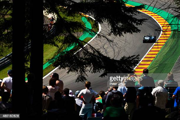Lewis Hamilton of Mercedes and Great Britain during the Formula One Grand Prix of Belgium at Circuit de SpaFrancorchamps on August 23 2015 in Spa...