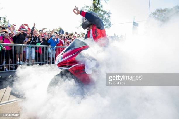 Lewis Hamilton of Mercedes and Great Britain during the Formula One Grand Prix of Italy at Autodromo di Monza on September 3 2017 in Monza Italy