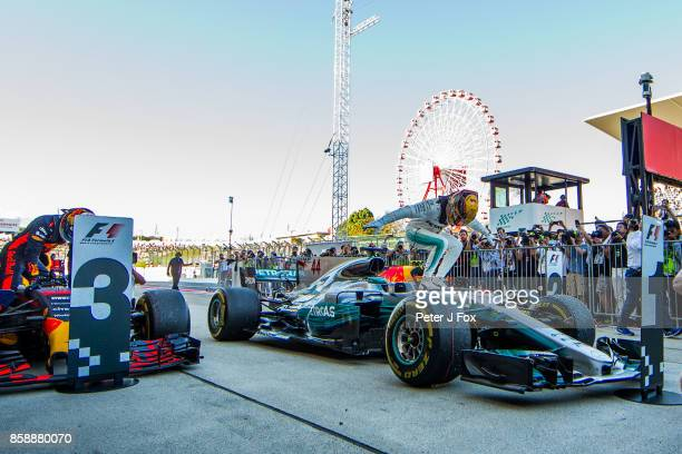 Lewis Hamilton of Mercedes and Great Britain during the Formula One Grand Prix of Japan at Suzuka Circuit on October 8 2017 in Suzuka