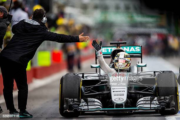 Lewis Hamilton of Mercedes and Great Britain wins the Canadian Formula One Grand Prix at Circuit Gilles Villeneuve on June 12 2016 in Montreal Canada