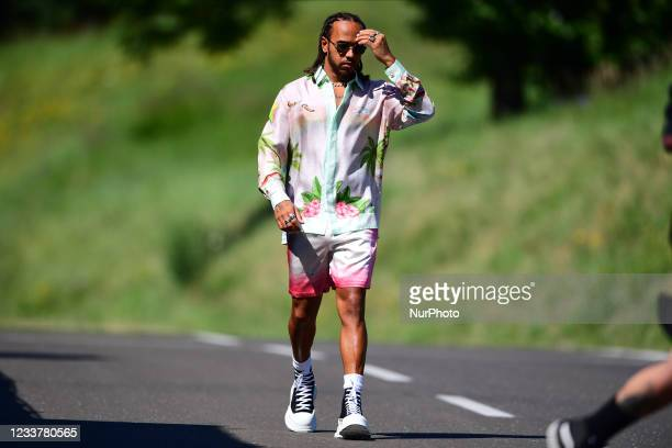 Lewis Hamilton of Mercedes-AMG Petronas F1 Team before qualifying of Austrian Grand Prix, 9th round of Formula One World Championship in Red Bull...