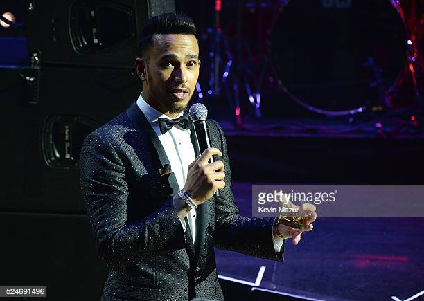 Lewis Hamilton speaks onstage at the 2016 Time 100 Gala Time's Most Influential People In The World at Jazz At Lincoln Center at the Time Warner...