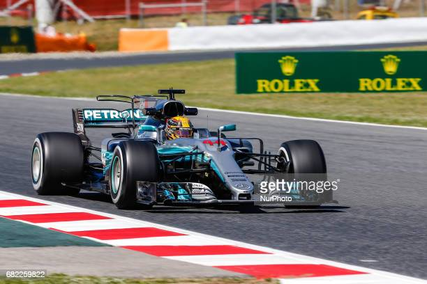 Lewis Hamilton team Mercedes during the Formula One GP of Spain 2017 celebrated at Circuit Barcelona Catalunuya on 12th May 2017 in Barcelona Spain