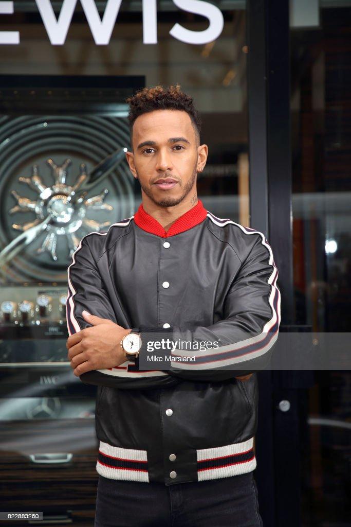 Lewis Hamilton At IWC Schaffhausen Boutique London