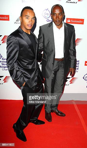Lewis Hamilton's father Anthony and brother Nick attends the F1 Party in aid of Great Ormond Street at Victoria Albert Museum on June 17 2009 in...