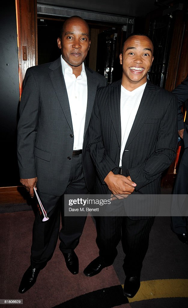 Lewis Hamilton's father Anthony Hamilton and brother Nicholas Hamilton attend the F1 Party in aid of the Great Ormond Street Hospital, at the Bloomsbury Ballroom on July 2, 2008 in London, England.