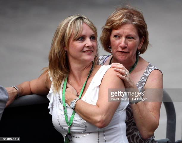 Lewis Hamilton's mother Carmen Lockhart and stepmother Linda Hamilton during the Formula One Sinopec Chinese Grand Prix at the Shanghai International...