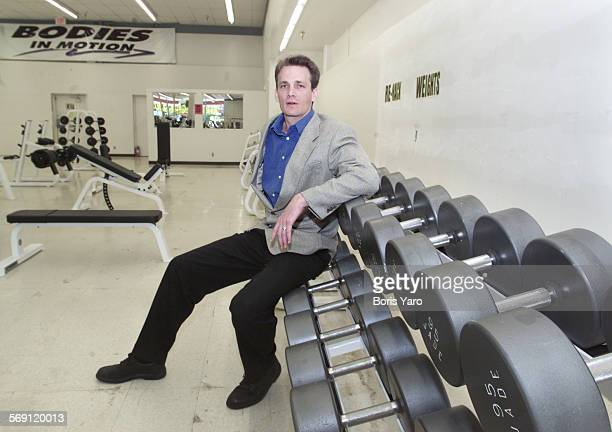 Lewis Herms general manager of Bodies in Motion gym inside the current gym his company has at a shopping center at Reseda Blvd and Devonshire St...