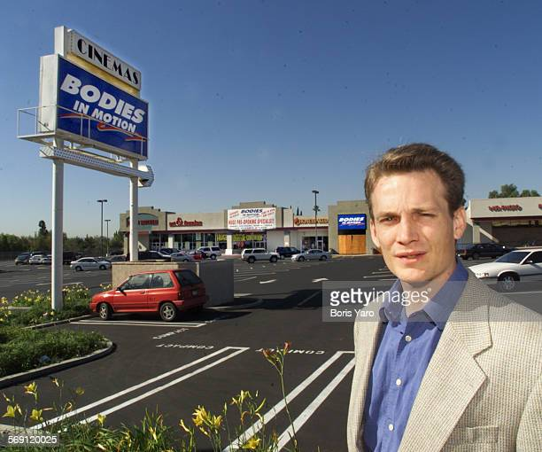 Lewis Herms general manager of Bodies in Motion gym stands in front of shopping center at Reseda Blvd and Devonshire St Northridge where his company...