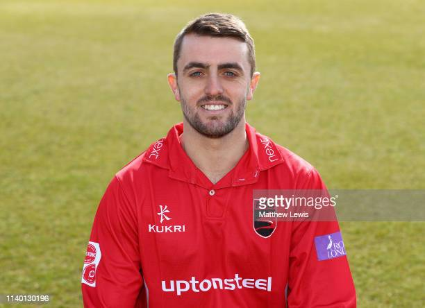 Lewis Hill of Leicestershire CCC pictured during the Leicestershire CCC Photocall at Grace Road on April 03 2019 in Leicester England