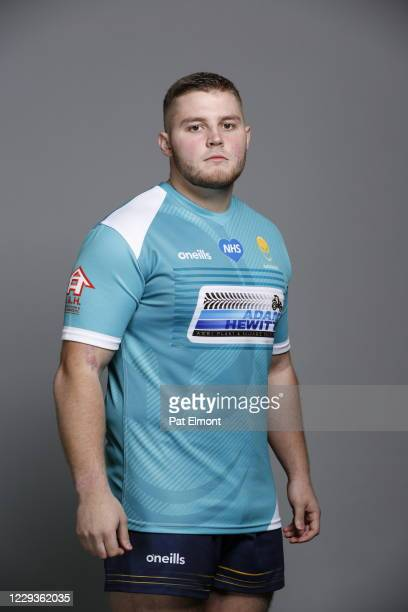 Lewis Holsey poses for a portrait during the Worcester Warriors squad photo call for the 202021 Gallagher Premiership Rugby season on on October 28...
