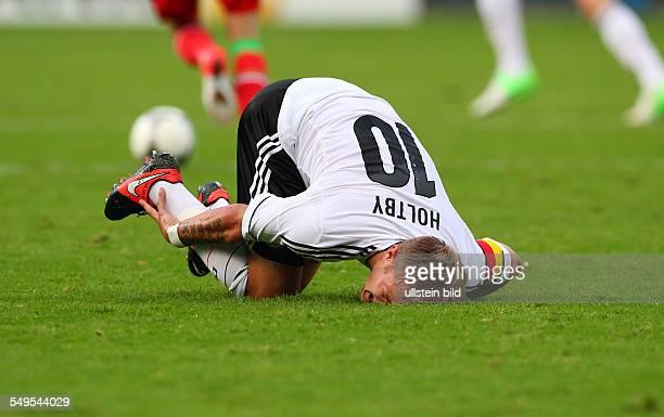 Lewis Holtby verletzt am Boden Einzelbild Freisteller Aktion Sport Fußball Fussball U21 Laenderspiel Länderspiel Herren Saison 2012 BRDeutschland vs...