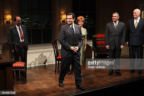 Lewis J Stadlen Anthony LaPaglia Kathryn Erbe Kevin O'Rourke John Ottavino during the Curtain Call for the Opening Celebration of 'Checkers' at the...