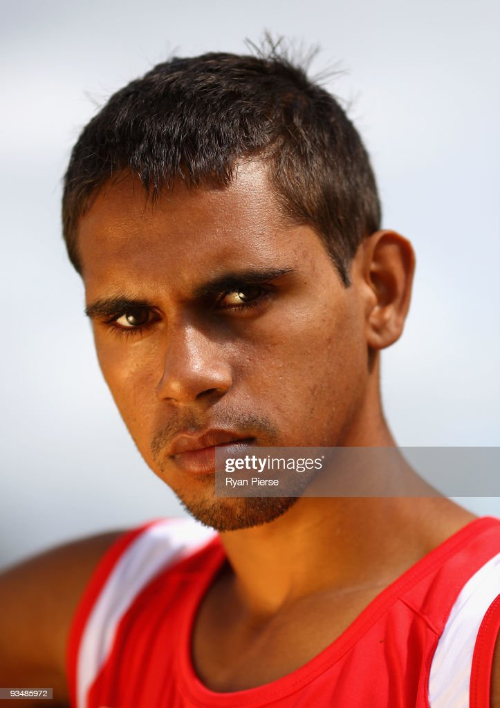 Lewis Jetta, a new recruit of the Swans, poses during a Sydney Swans Training Session at Lakeside Oval on November 30, 2009 in Sydney, Australia.
