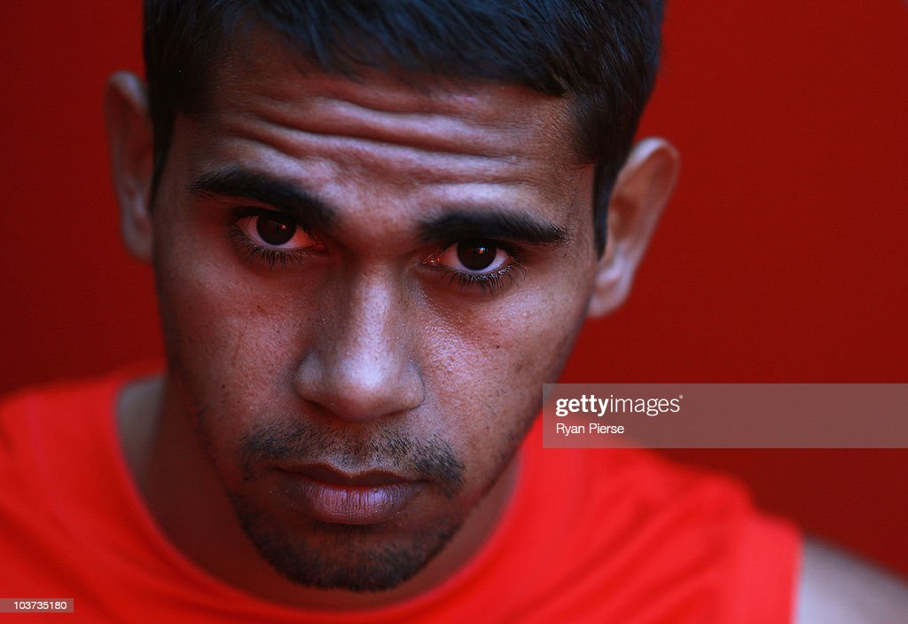 Lewis Jetta of the Swans poses during a Sydney Swans AFL media session at Sydney Cricket Ground on August 31, 2010 in Sydney, Australia.