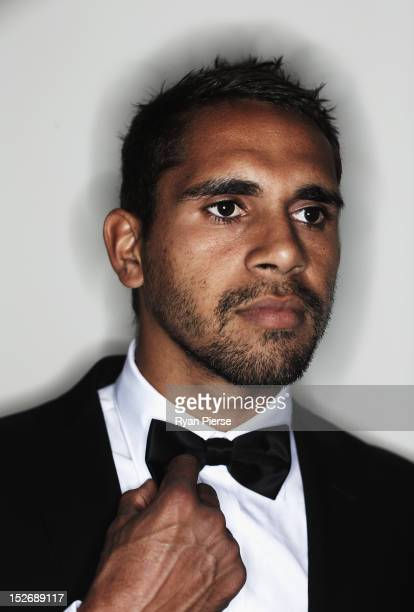 Lewis Jetta of the Swans poses during the Sydney Swans AFL Brownlow Medal function at Sydney Cricket Ground on September 24 2012 in Sydney Australia