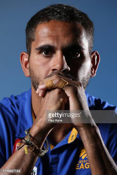 Lewis Jetta poses during a West Coast Eagles Media Opportunity at Mineral Resources Park on August 28 2019 in Perth Australia