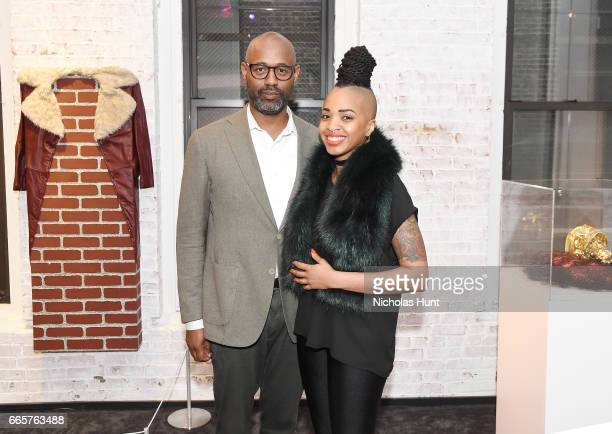 Lewis Long and Doreen Garner attend HBO's The HeLa Project Exhibit For The Immortal Life of Henrietta Lacks on April 6 2017 in New York City