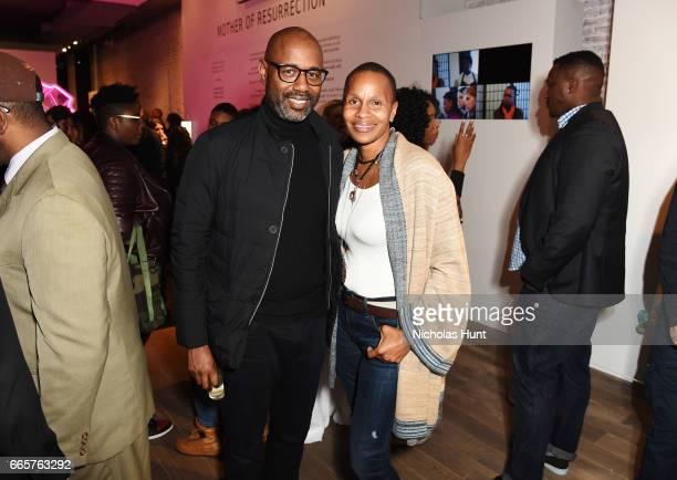 Lewis Long and Janeene Lybere attend HBO's The HeLa Project Exhibit For The Immortal Life of Henrietta Lacks on April 6 2017 in New York City
